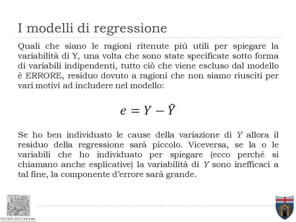I modelli di regressione