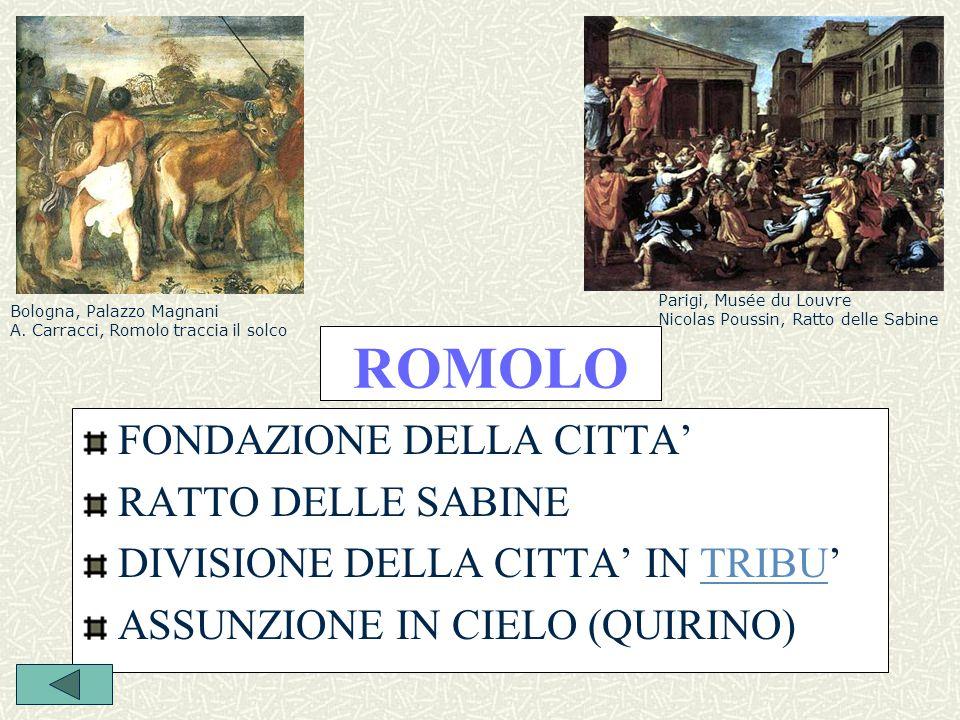 ROMOLO FONDAZIONE DELLA CITTA' RATTO DELLE SABINE
