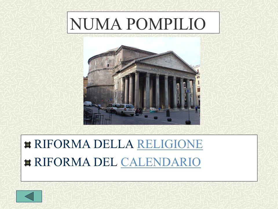NUMA POMPILIO RIFORMA DELLA RELIGIONE RIFORMA DEL CALENDARIO
