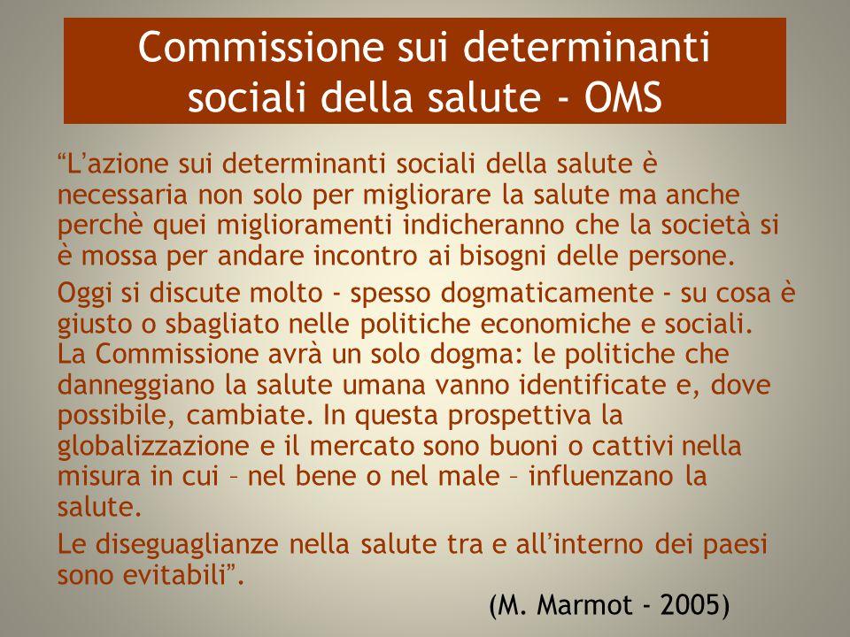 Commissione sui determinanti sociali della salute - OMS