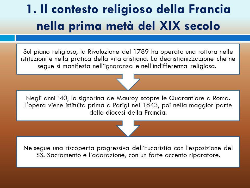 1. Il contesto religioso della Francia nella prima metà del XIX secolo
