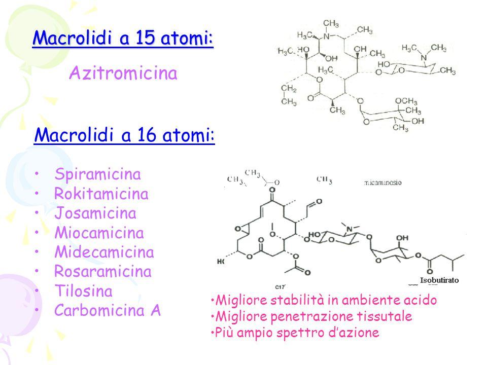 Macrolidi a 15 atomi: Azitromicina