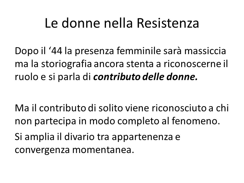 Le donne nella Resistenza