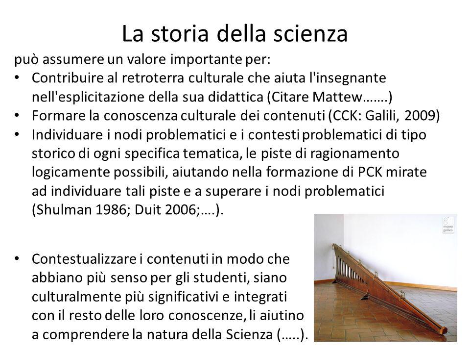 La storia della scienza