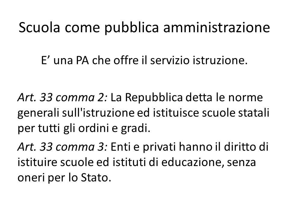 Scuola come pubblica amministrazione
