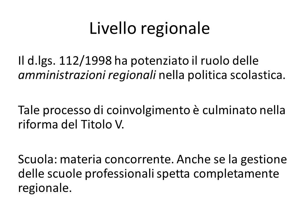 Livello regionale