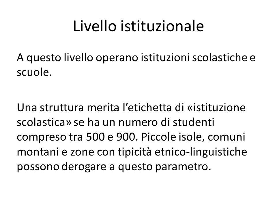 Livello istituzionale
