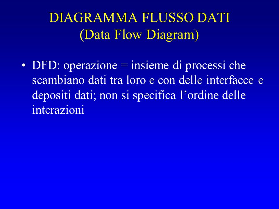 DIAGRAMMA FLUSSO DATI (Data Flow Diagram)