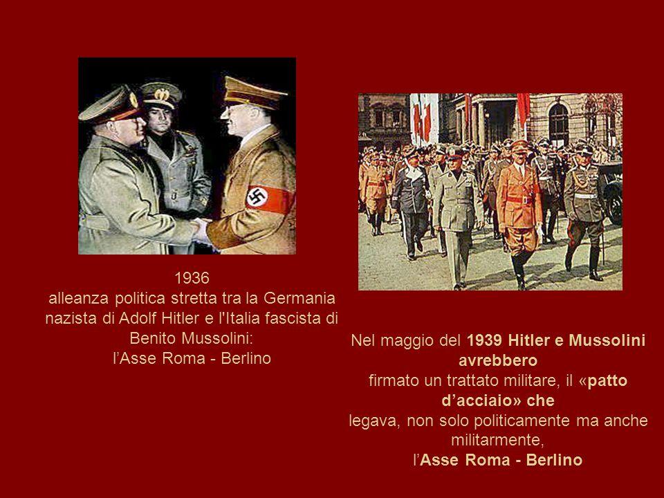 Nel maggio del 1939 Hitler e Mussolini avrebbero