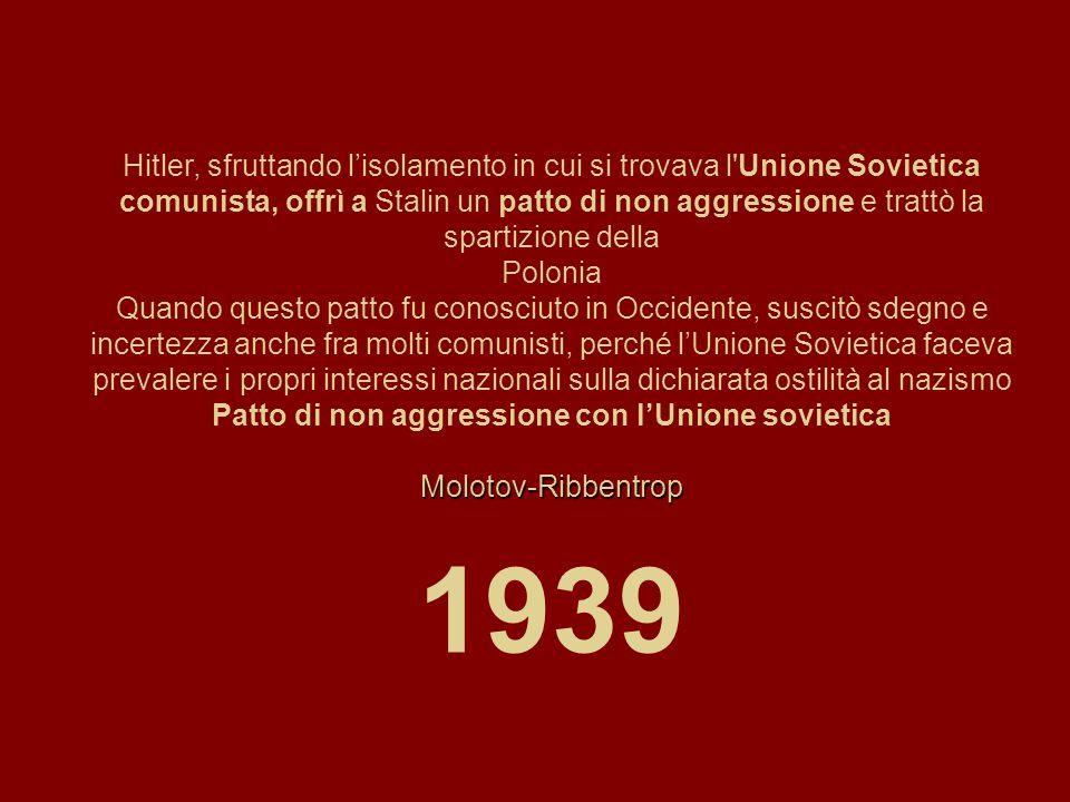 Patto di non aggressione con l'Unione sovietica