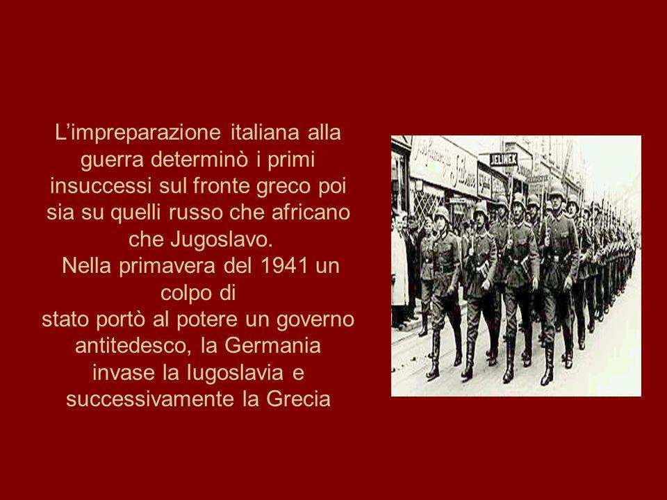 L'impreparazione italiana alla guerra determinò i primi