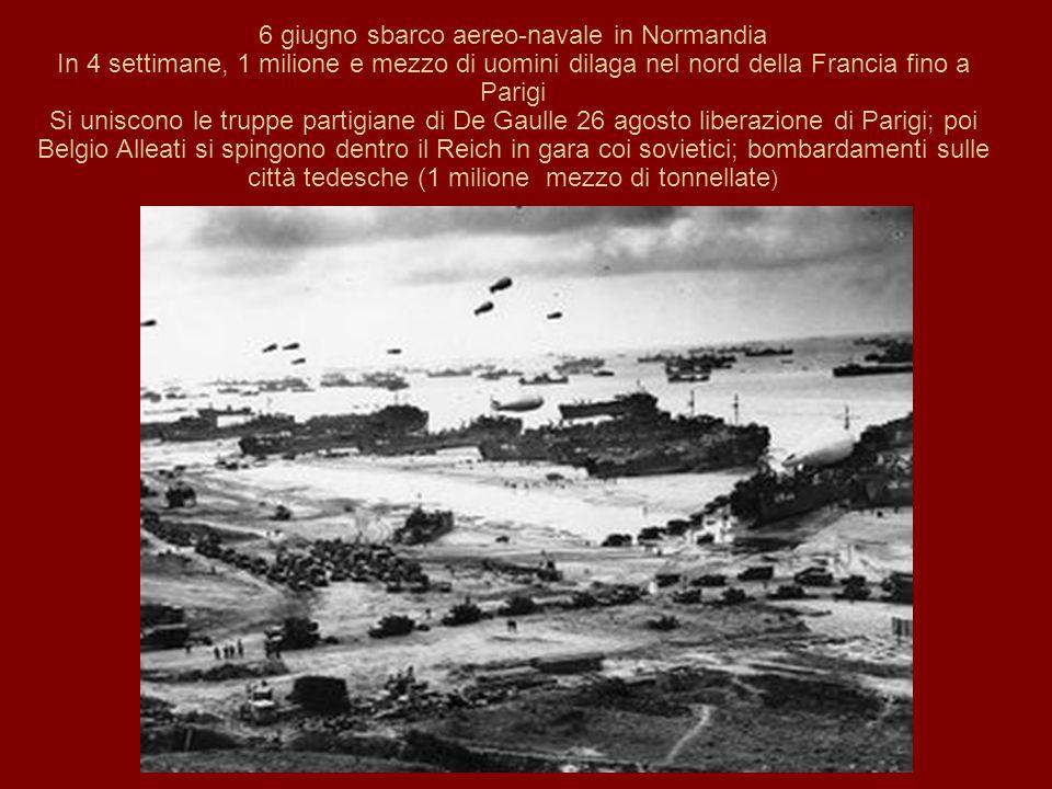 6 giugno sbarco aereo-navale in Normandia