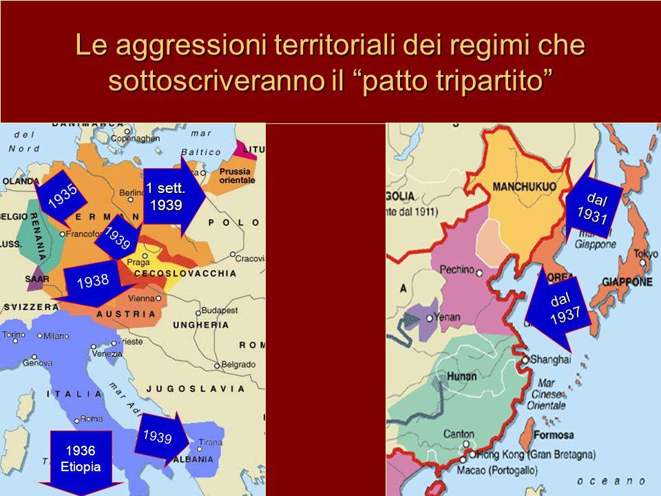 Le aggressioni territoriali dei regimi che sottoscriveranno il patto tripartito