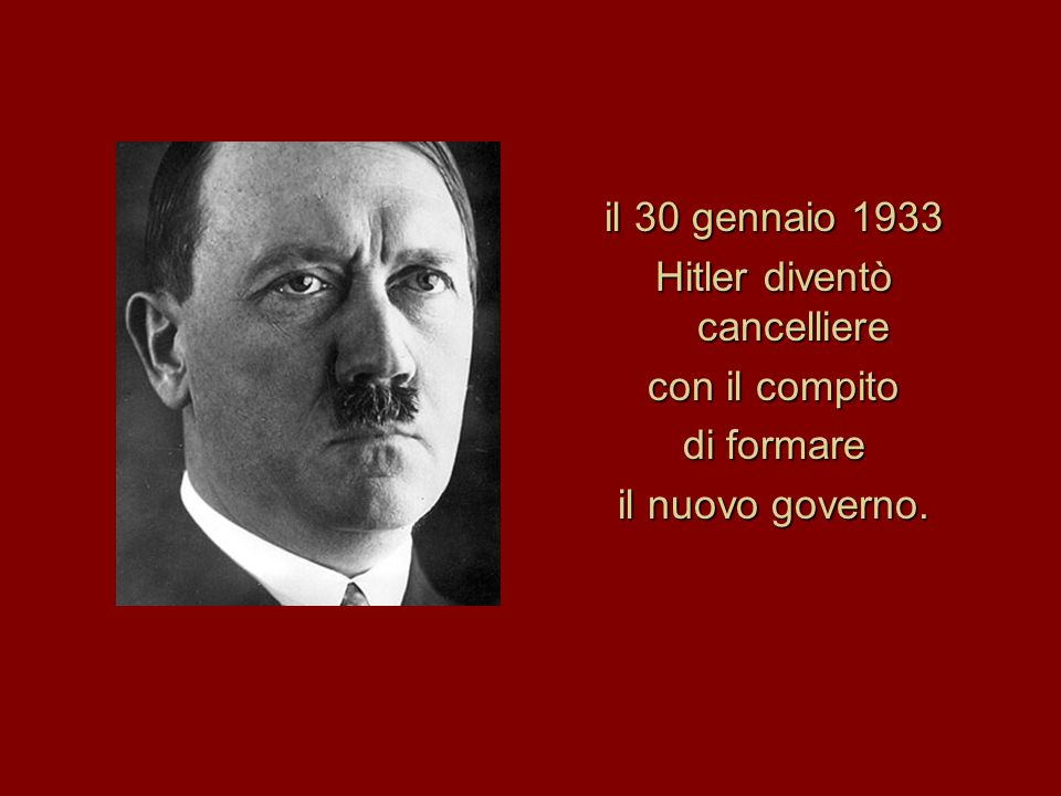 Hitler diventò cancelliere