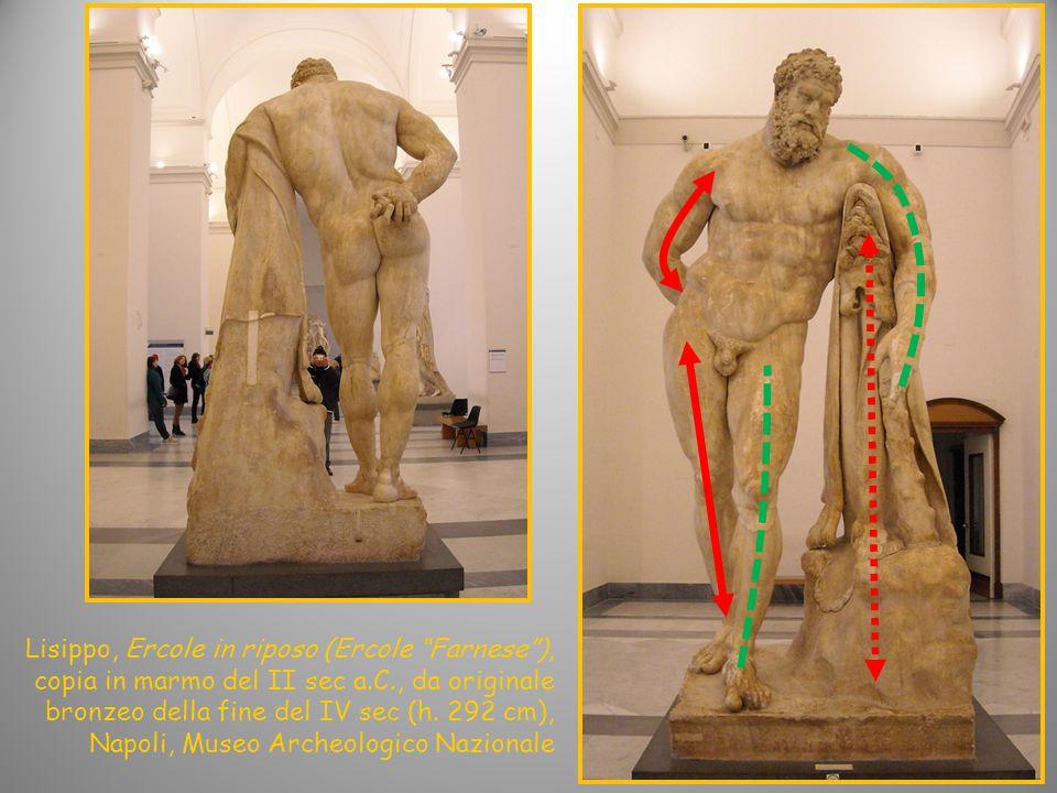 Lisippo, Ercole in riposo (Ercole Farnese ), copia in marmo del II sec a.C., da originale bronzeo della fine del IV sec (h.