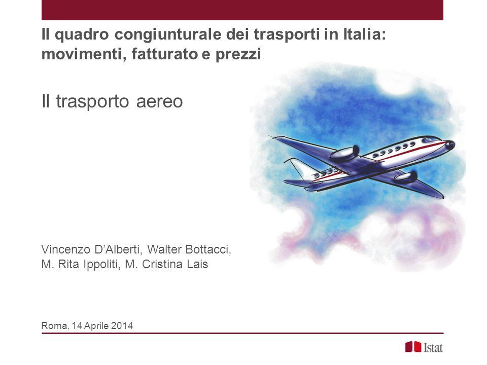 Il quadro congiunturale dei trasporti in Italia: movimenti, fatturato e prezzi