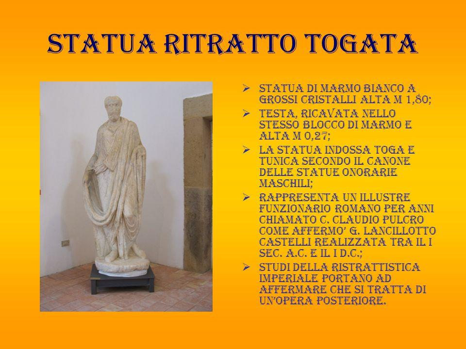 STATUA RITRATTO TOGATA