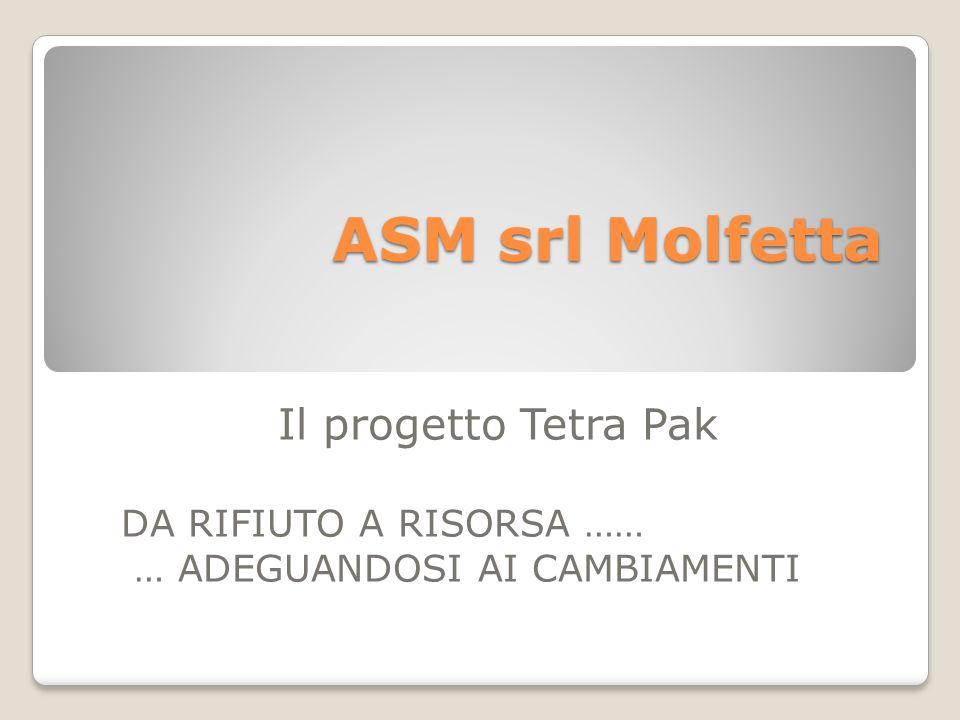 ASM srl Molfetta Il progetto Tetra Pak DA RIFIUTO A RISORSA ……
