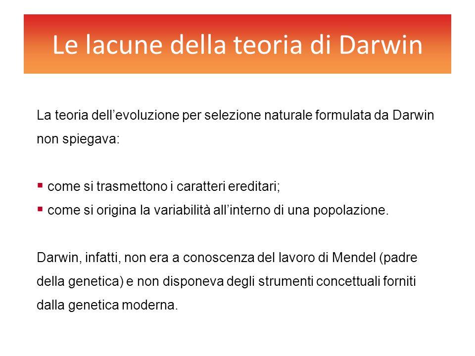 Le lacune della teoria di Darwin