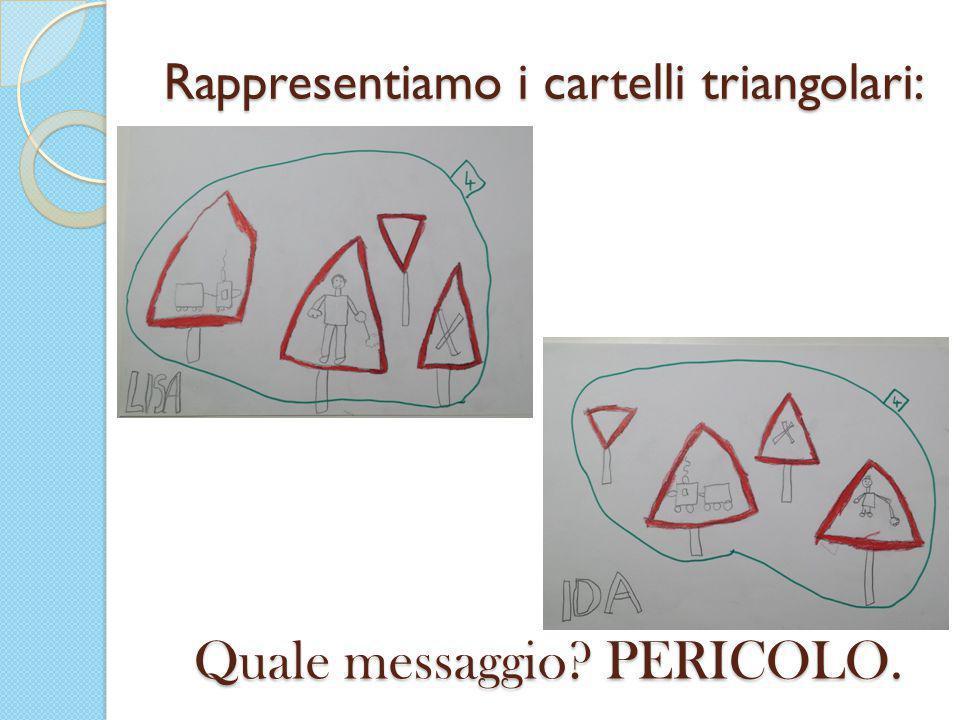 Rappresentiamo i cartelli triangolari: