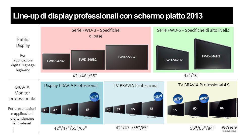 Line-up di display professionali con schermo piatto 2013