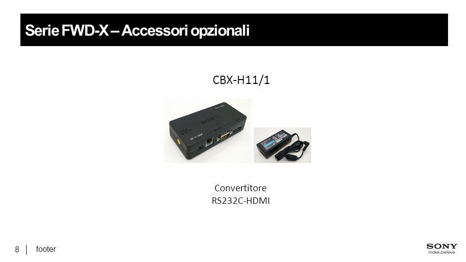 Serie FWD-X – Accessori opzionali