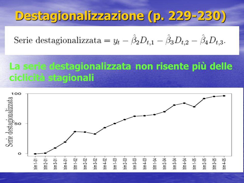 Destagionalizzazione (p. 229-230)