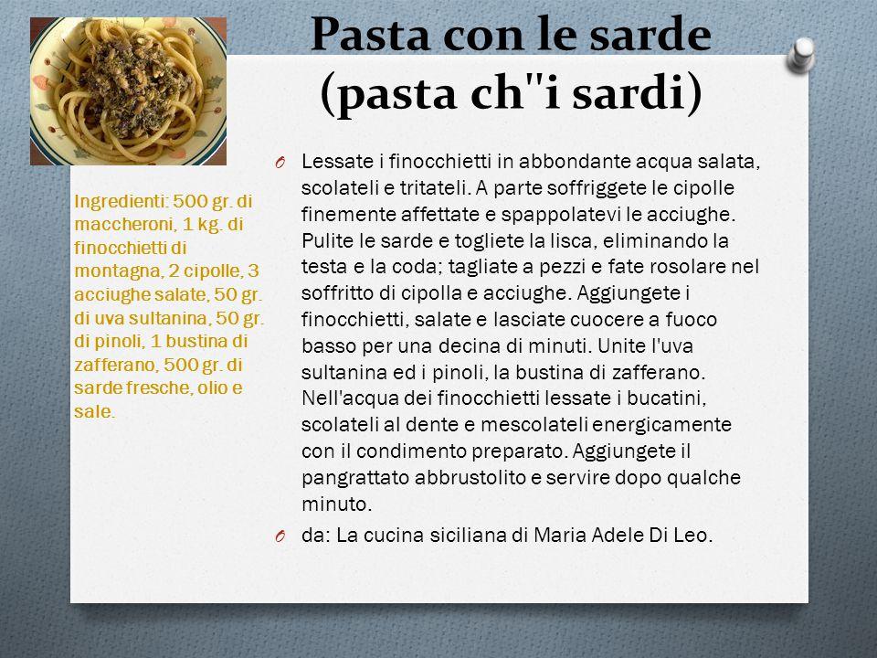 Pasta con le sarde (pasta ch i sardi)