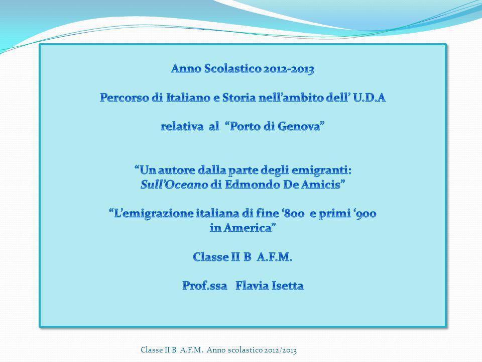 Percorso di Italiano e Storia nell'ambito dell' U.D.A