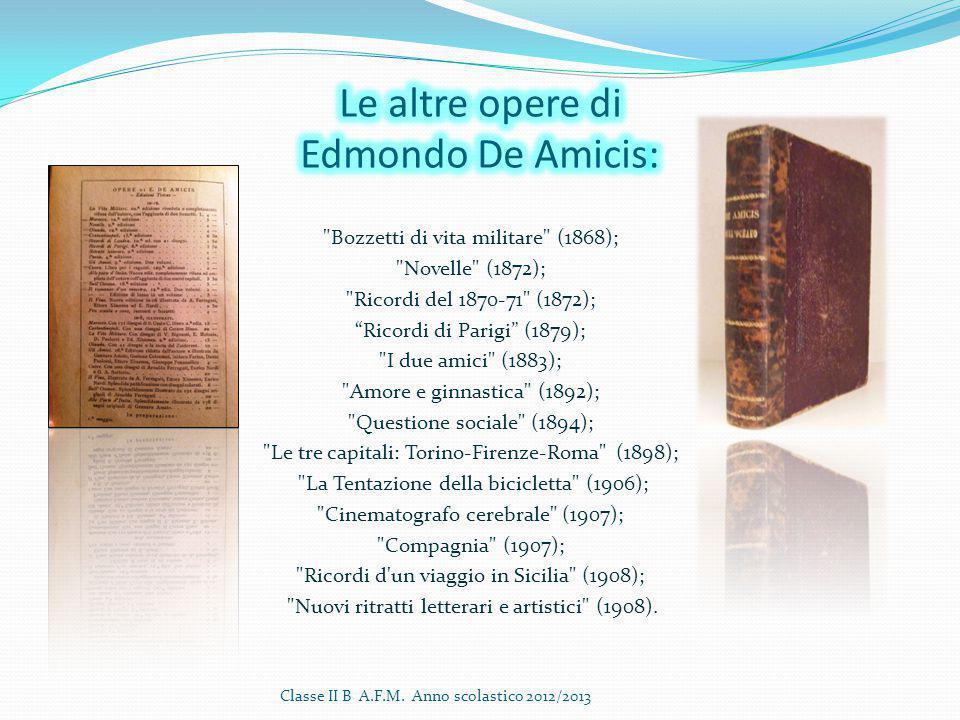 Le altre opere di Edmondo De Amicis: