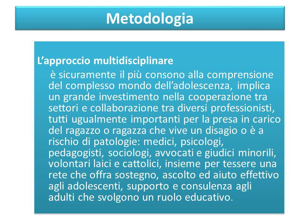 Metodologia L'approccio multidisciplinare