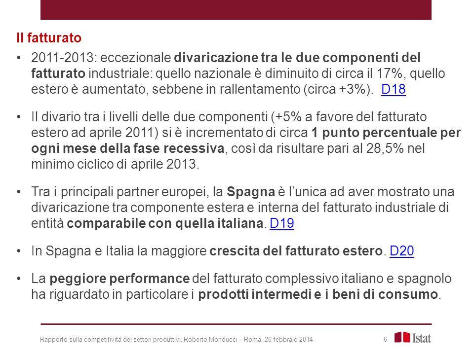 In Spagna e Italia la maggiore crescita del fatturato estero. D20