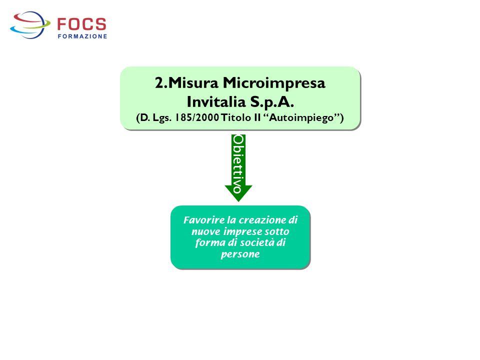2.Misura Microimpresa Invitalia S.p.A.
