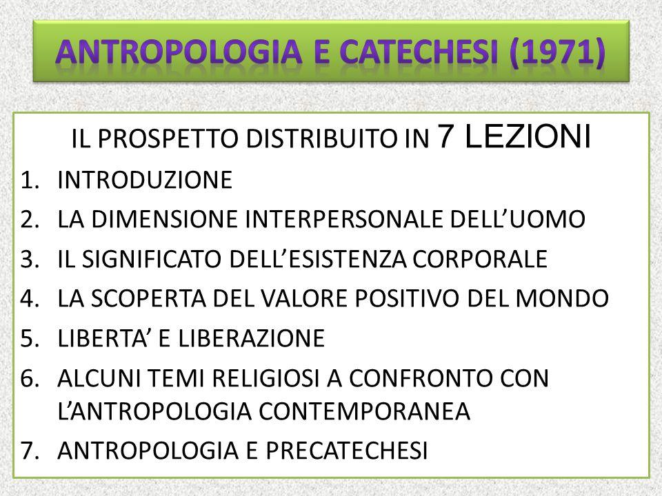 ANTROPOLOGIA E CATECHESI (1971)