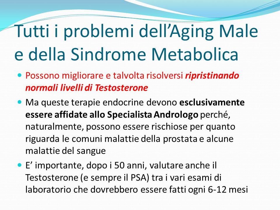 Tutti i problemi dell'Aging Male e della Sindrome Metabolica