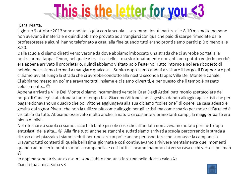 This is the letter for you <3