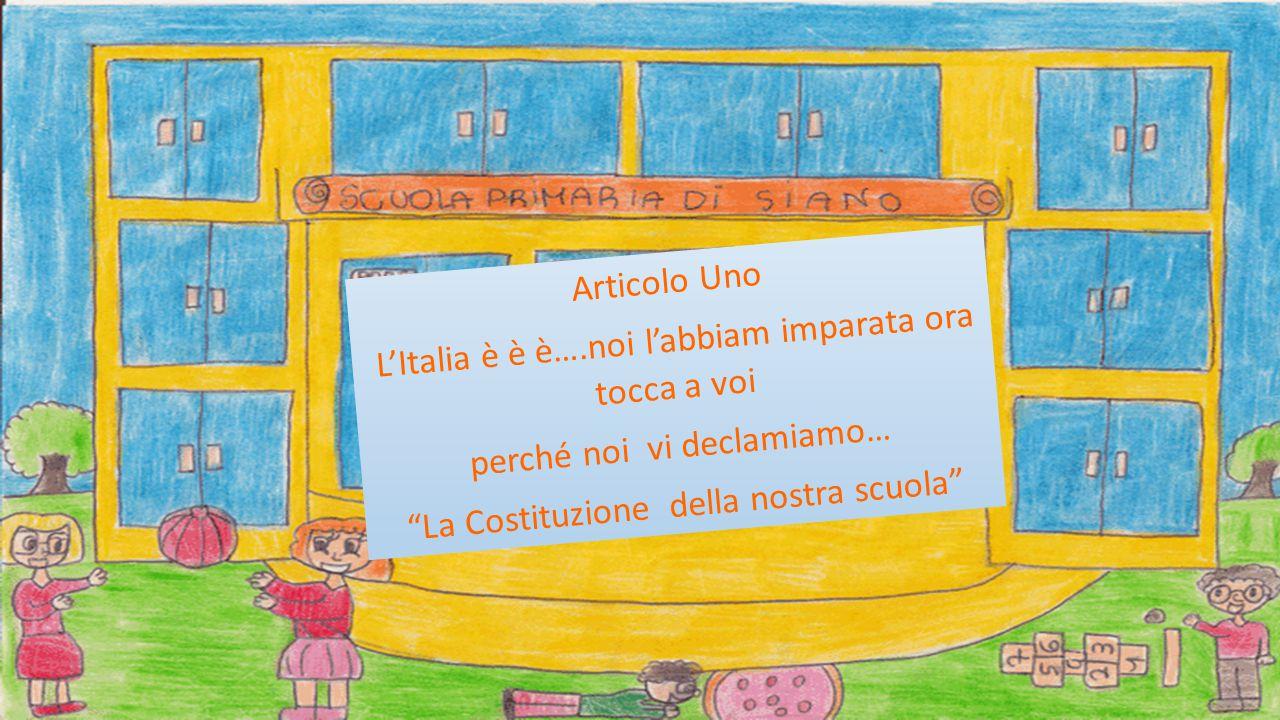 L'Italia è è è….noi l'abbiam imparata ora tocca a voi