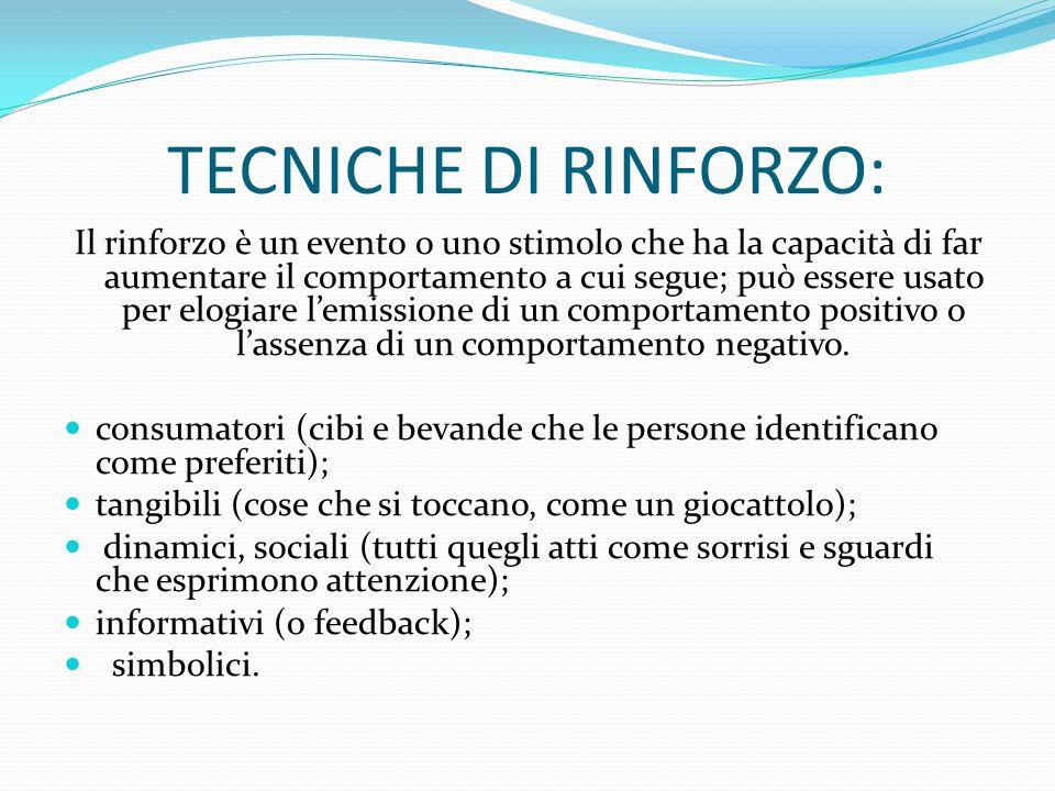 TECNICHE DI RINFORZO: