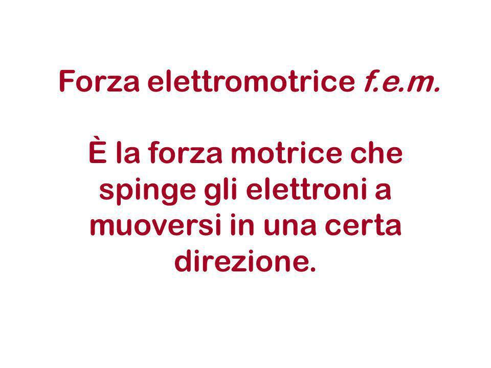 Forza elettromotrice f. e. m