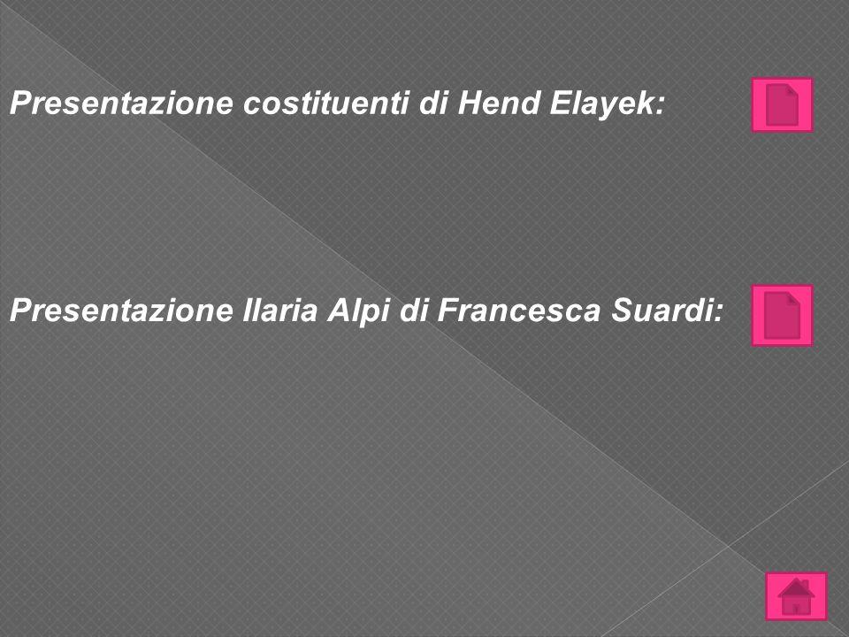 Presentazione costituenti di Hend Elayek: