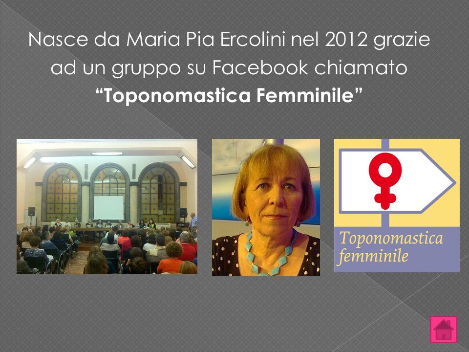 Nasce da Maria Pia Ercolini nel 2012 grazie ad un gruppo su Facebook chiamato Toponomastica Femminile