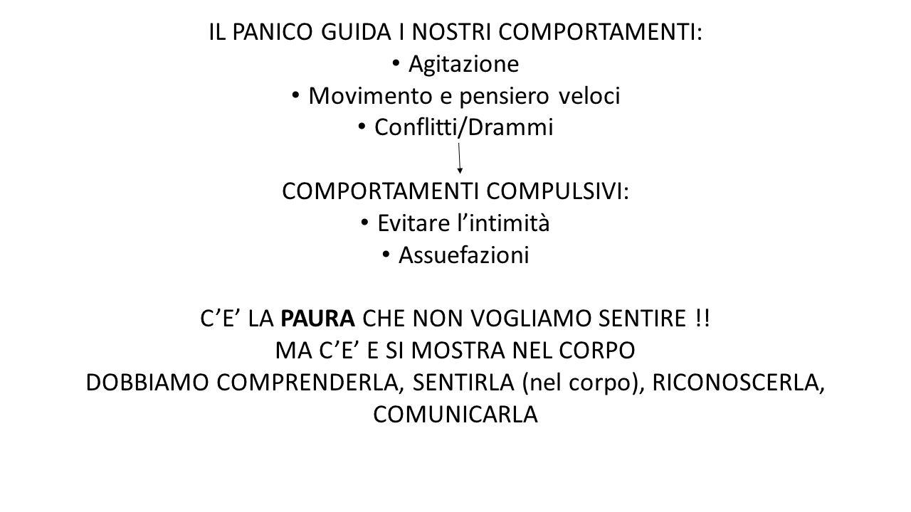 IL PANICO GUIDA I NOSTRI COMPORTAMENTI: Agitazione