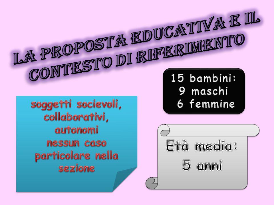La proposta educativa e il contesto di riferimento