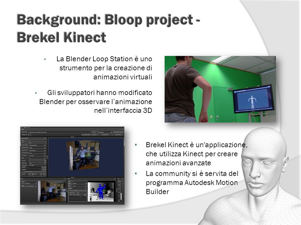 Background: Bloop project - Brekel Kinect