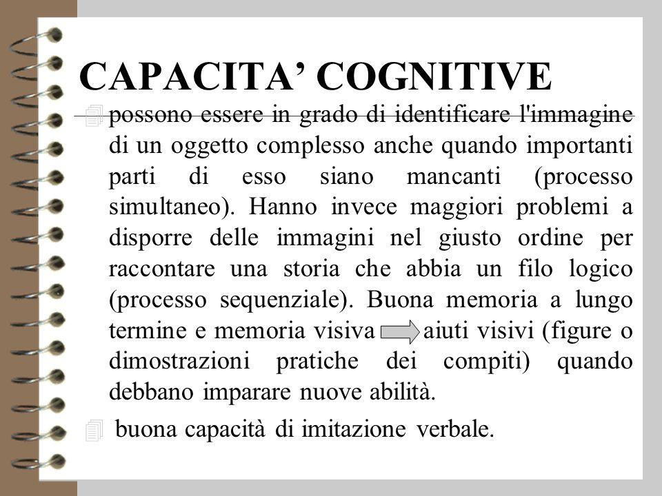 CAPACITA' COGNITIVE