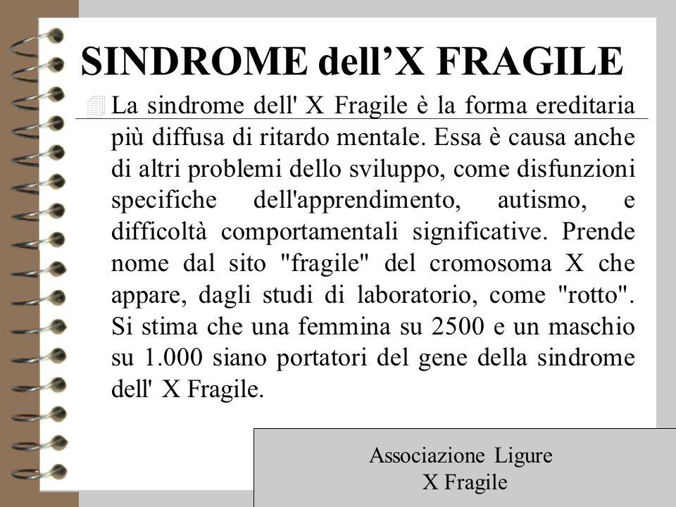 SINDROME dell'X FRAGILE