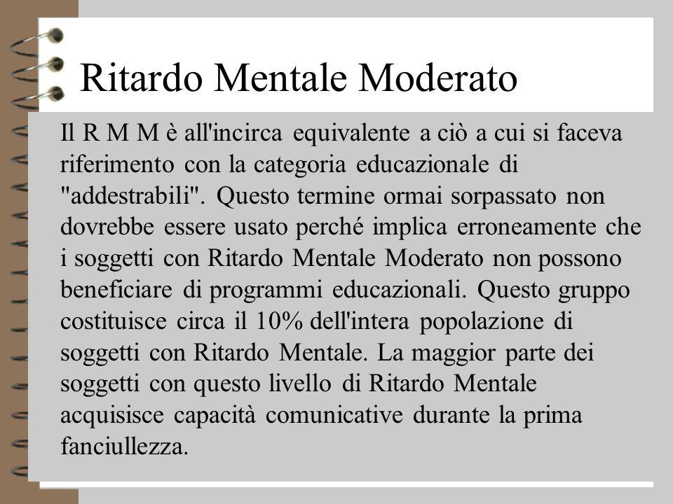 Ritardo Mentale Moderato