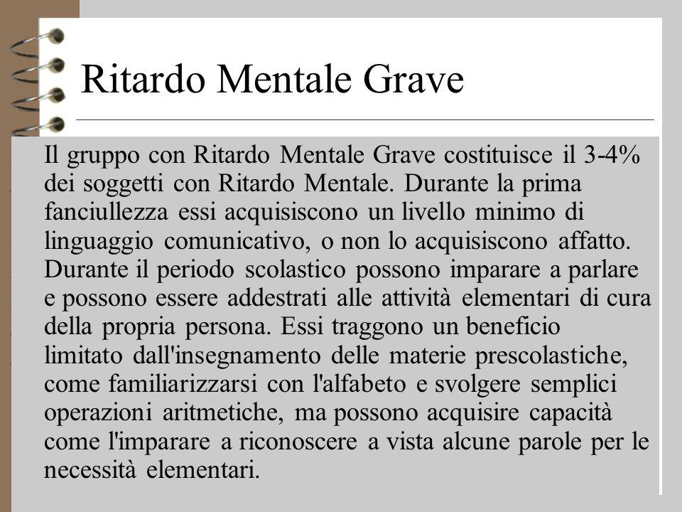 Ritardo Mentale Grave
