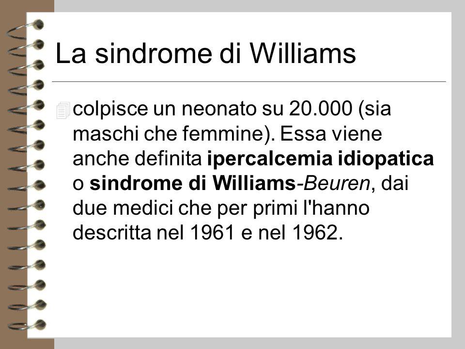 La sindrome di Williams