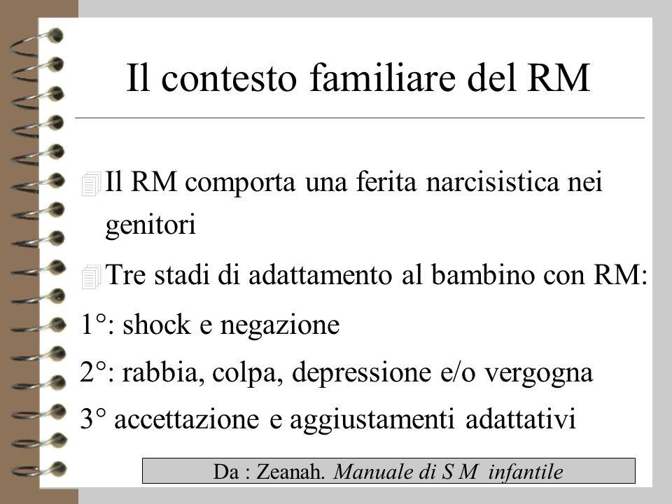Il contesto familiare del RM